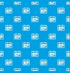 number calendar pattern seamless blue vector image