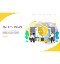 online security services landing page website vector image