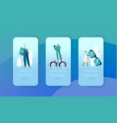 Ophthalmology doctor test eyesight mobile app vector