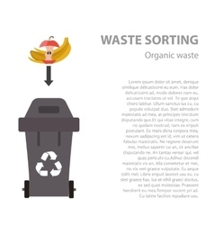 Organic waste sorting flat concept vector