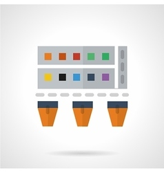 Paints flat color icon vector image