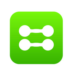 pair of dumbbells icon digital green vector image