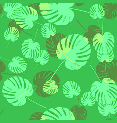 Palm leaf seamless pattern vector