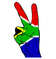 Peace Sign of the South African Flag vector