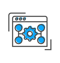 Process management icon with scheme sign vector