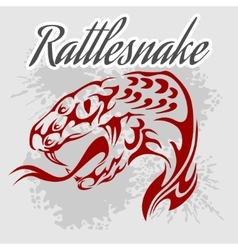 Rattlesnake - vintage artwork for wear vector