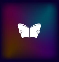 reading book icon vector image