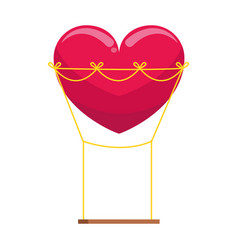 Red heart swing icon image vector