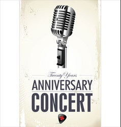 retro vintage microphone anniversary conert vector image