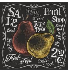 Ripe pear logo design template fresh vector