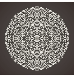 Round kaleidoscopic lace ornamental background vector image
