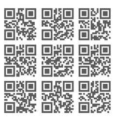 Sample QR Code Ready to Scan with Smart Phone vector