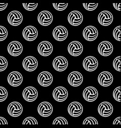 seamless black ball background vector image