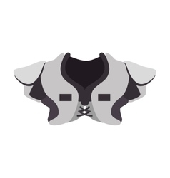 Shoulder pad football american icon vector