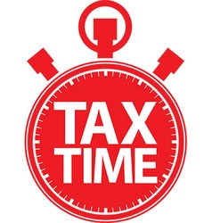 Tax time stopwatch red icon vector image