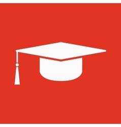 The graduation cap icon Education symbol vector image