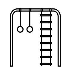 Thin line climbing plays icon vector