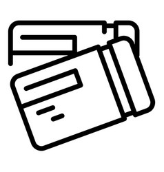 Train tickets icon outline style vector