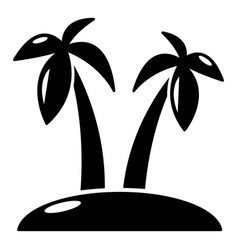 tropical island icon simple style vector image