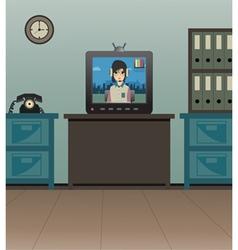TV in room vector
