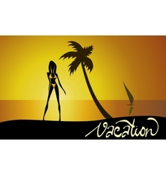 Vacation wallpaper vector image