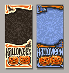 Vertical banner for halloween vector