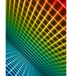 Virtual space with light wire lines vector