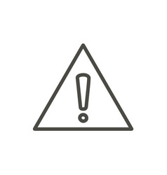 warning icon line danger symbol isolated vector image
