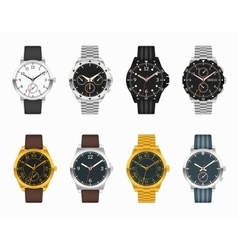 Watch set expensive classic watches vector
