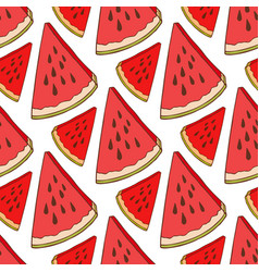 Watermelon seamless pattern bright fabric texture vector