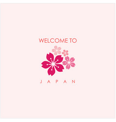 Welcome to japan template design vector