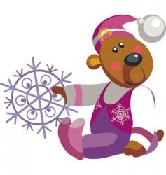 bear snowflake vector image