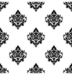 Black and white seamless arabesque pattern vector image