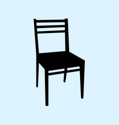chair isolated on ligth blue vector image