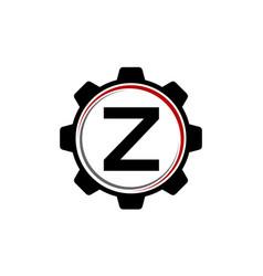 gear solution logo letter z vector image vector image