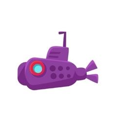Purple Submarine Toy Boat vector image