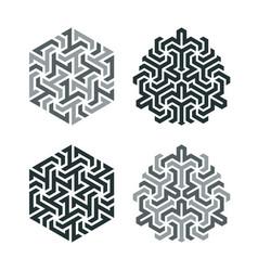 design tattoo in geometric tessellation style vector image