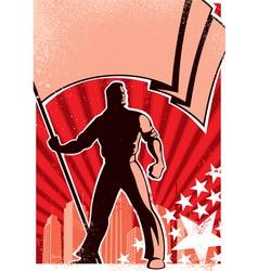 flag bearer poster vector image