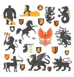 Heraldic Animals And Elements 2 vector image