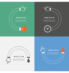 Set of symbols showing the movement process vector image vector image