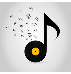 Vinyl note vector image