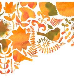Watercolor floral greeting card Vintage retro vector image vector image