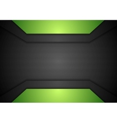 Dark black and green tech corporate design vector image vector image
