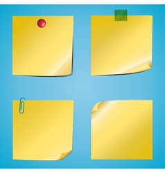Set of notes vector image