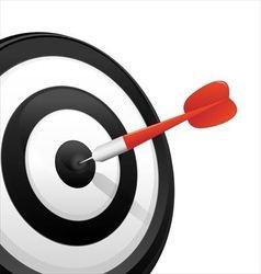 Dart hitting a target vector image vector image