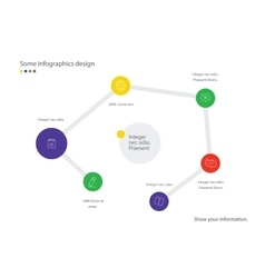 Infographic map Useful for presentation web vector image vector image