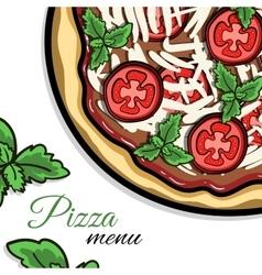 MenuPizza2 vector image