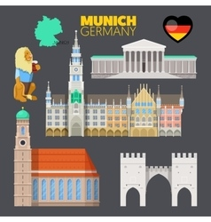 Munich Germany Travel Doodle with Architecture vector image