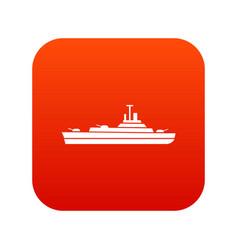warship icon digital red vector image vector image