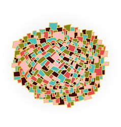 abstract colorful shape vector image